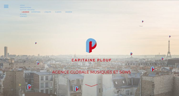 Site web Capitaine Plouf ©HappyFactoryParis
