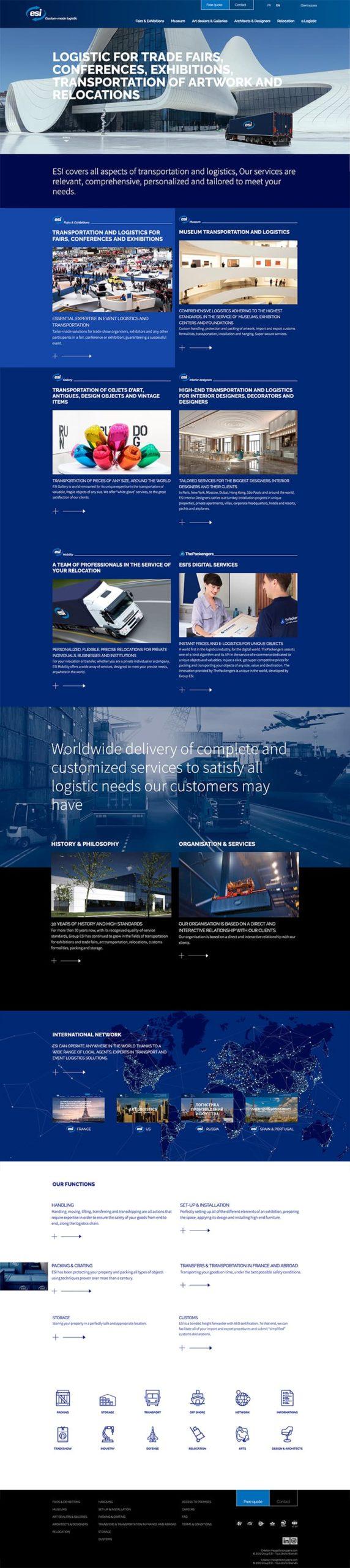 site web logistique transport