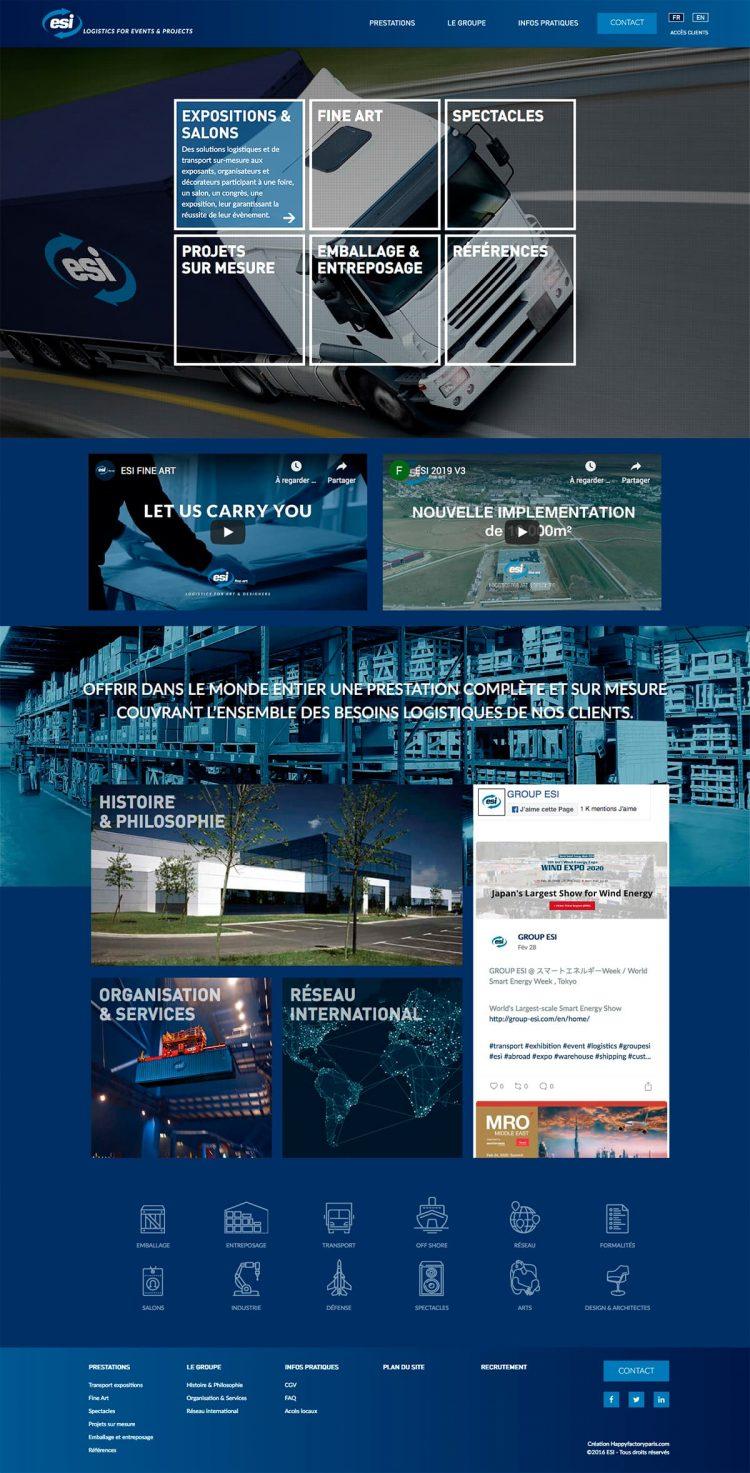 Home page site web Group ESI ©Happyfactoryparis