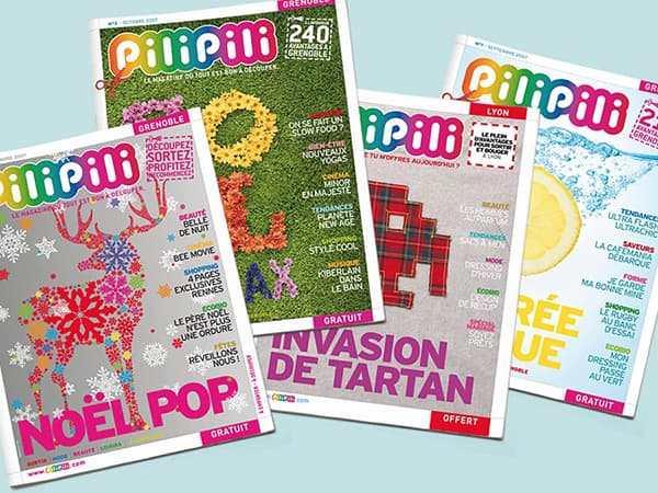 Couvertures du magazine PiliPili ©design Happyfactory Paris