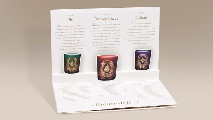Dossier de presse en Pop-Up Diptyque Paris ©création Happyfactory Paris