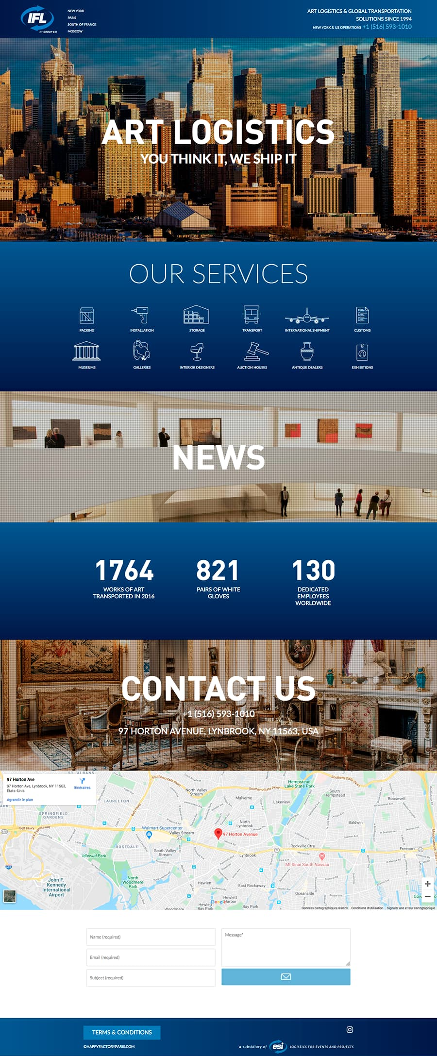 Site web IFL New York ©design Happyfactory Paris